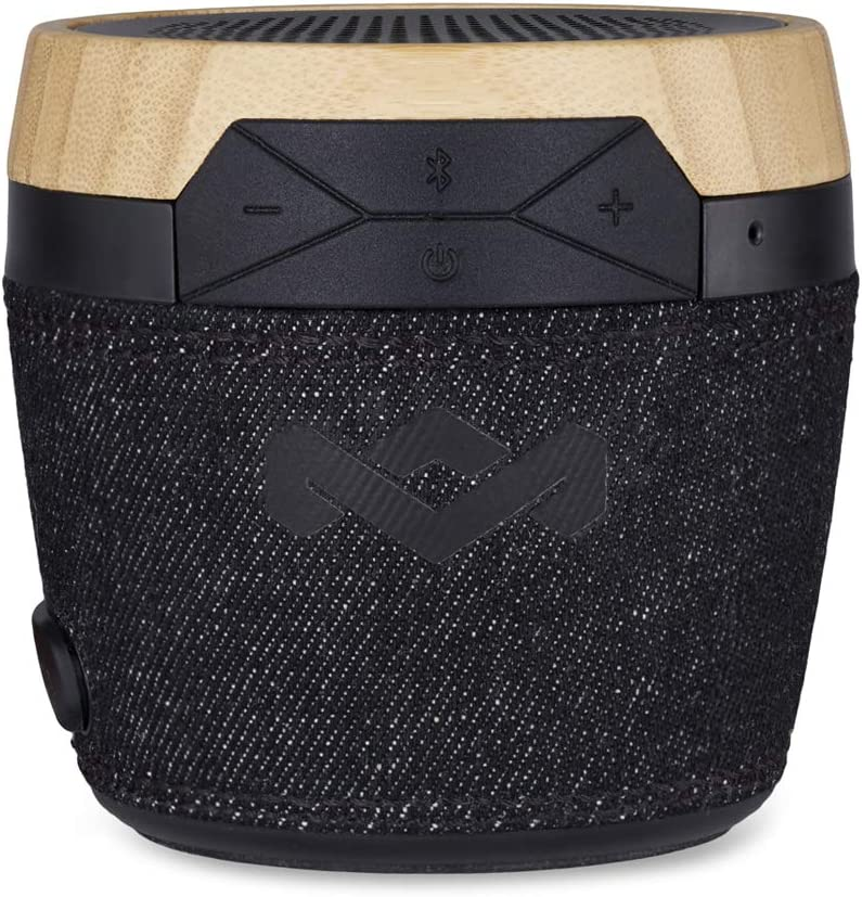 House of Marley, Chant Mini Wireless Bluetooth Speaker 6 hr Runtime, Splash Resistant, Integrated Mic Signature Black