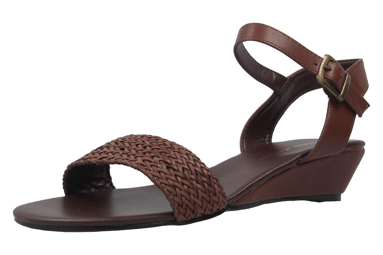 Andres Machado - Zapatos de vestir de Material Sintético para mujer Marrón marrón, color Marrón, talla 43