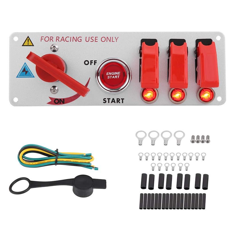 KIMISS Pannello di accensione per Auto da Corsa con Pulsante a LED per Auto da Corsa Professionale