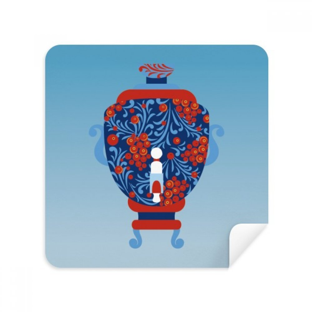 ロシア国立シンボル花瓶パターン電話画面クリーナーメガネクリーニングクロススエードファブリック2個   B07C979QLL