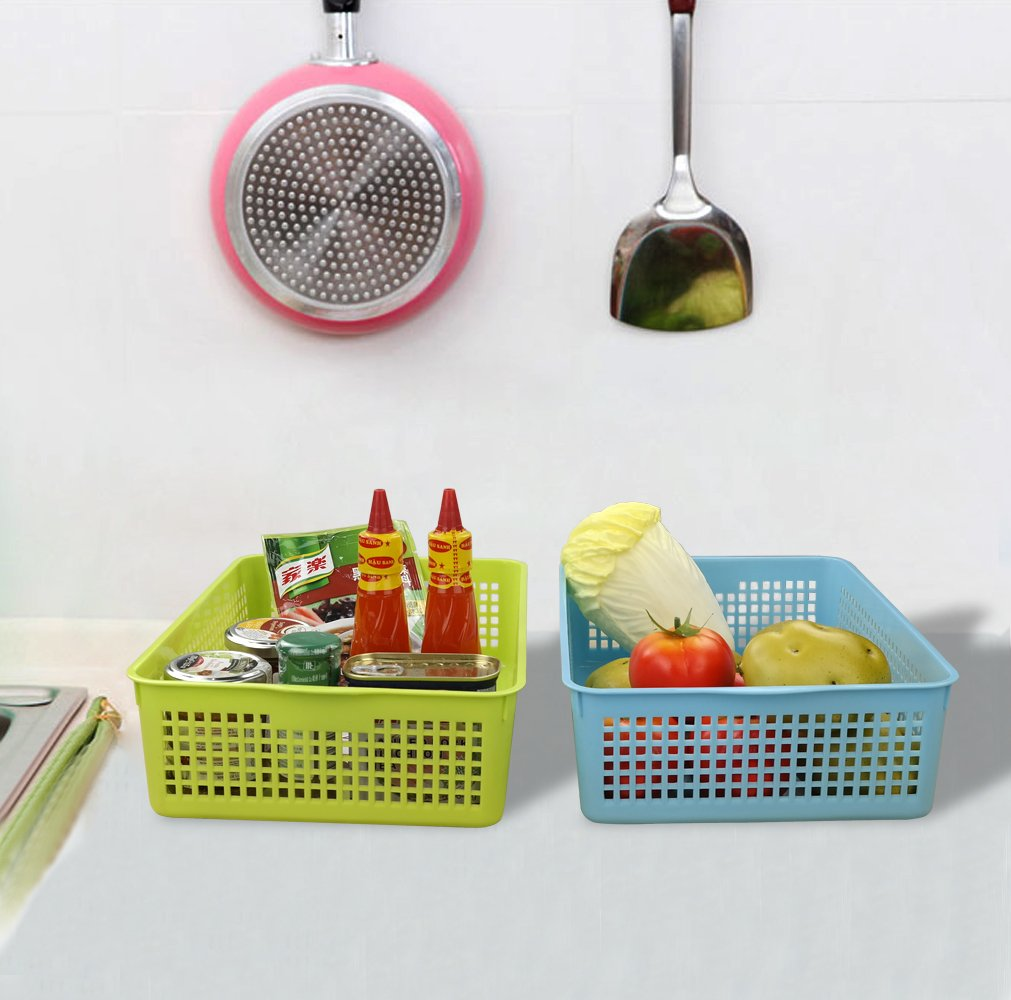 6 Packs Anbers Plastic Storage Baskets//Bins