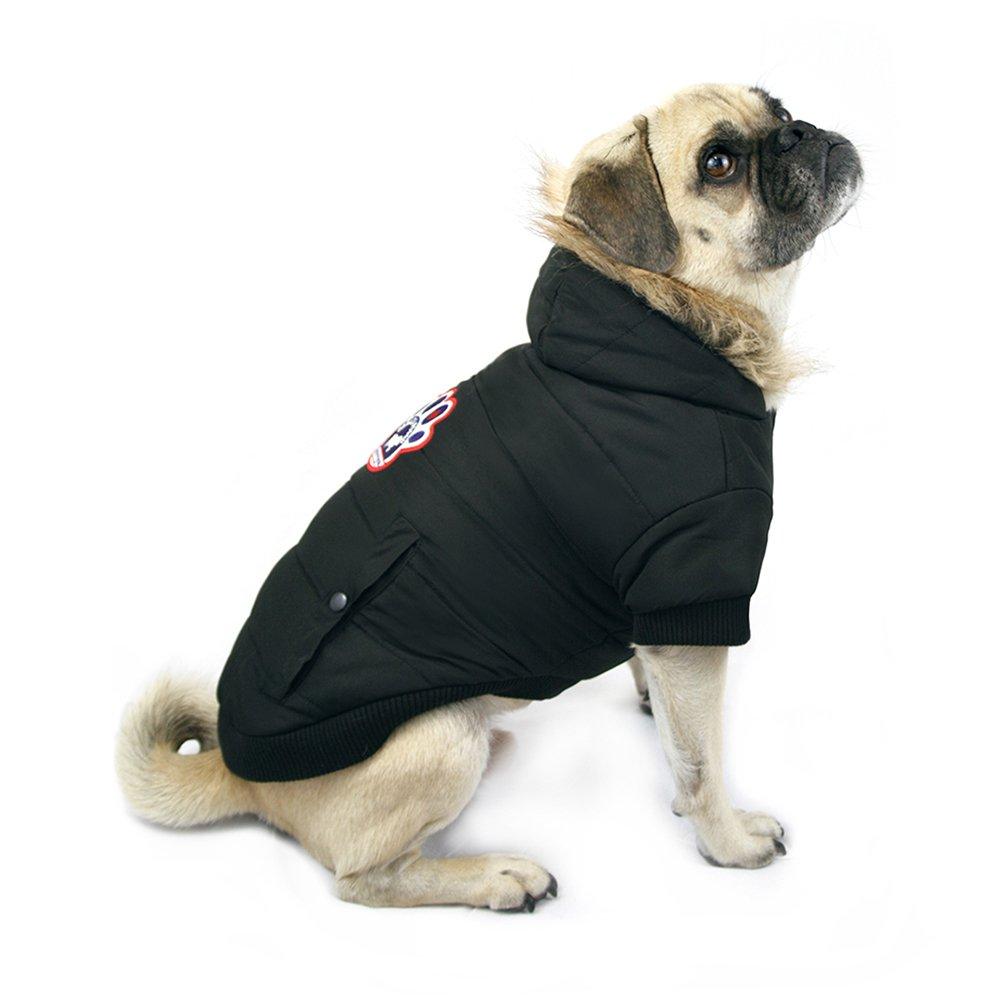 cdb92aa18a9d Amazon.com   Canada Pooch North Pole Parka, Black, Size 26   Pet Coats    Pet Supplies