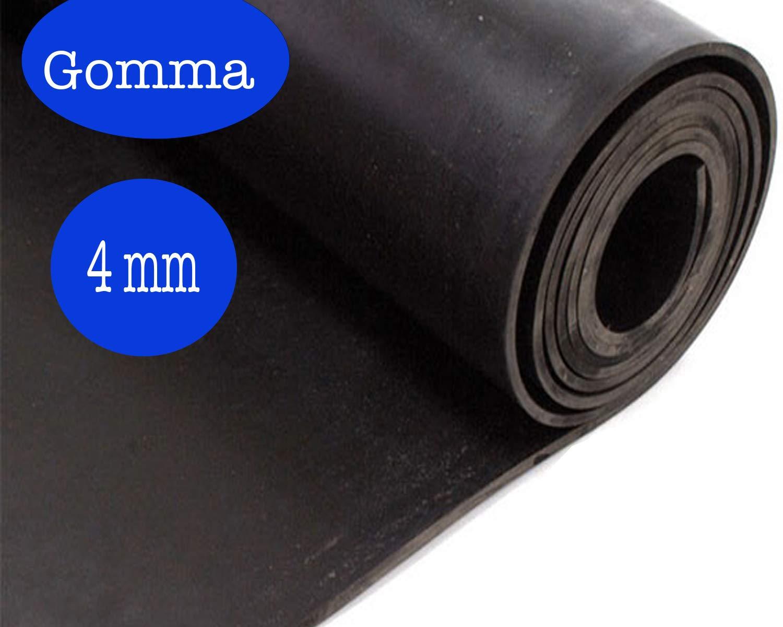 LASTRA GOMMA LISCIA SPESSORE 4 MM ALTEZZA 120 CM (1, 2 X 3 M) DI GUIDETTI SERVICE