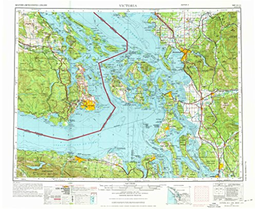 - YellowMaps Victoria WA topo map, 1:250000 Scale, 1 X 2 Degree, Historical, 1957, Updated 1976, 22.1 x 27.1 in - Polypropylene