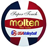 Molten Super Touch Volleyball, Red, White, Blue