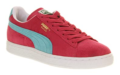 9493943bcd11 Image Unavailable. Image not available for. Colour  Puma Suede Classic  Cabaret Pink Blue ...