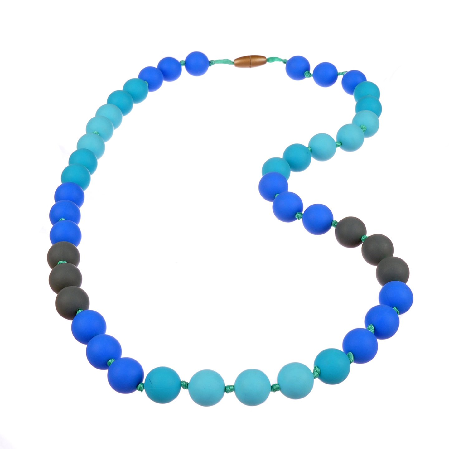 Jelly Strands Lizzie Baby Teething Necklace Turquoise by Jelly Strands   B00EF7Y6RM