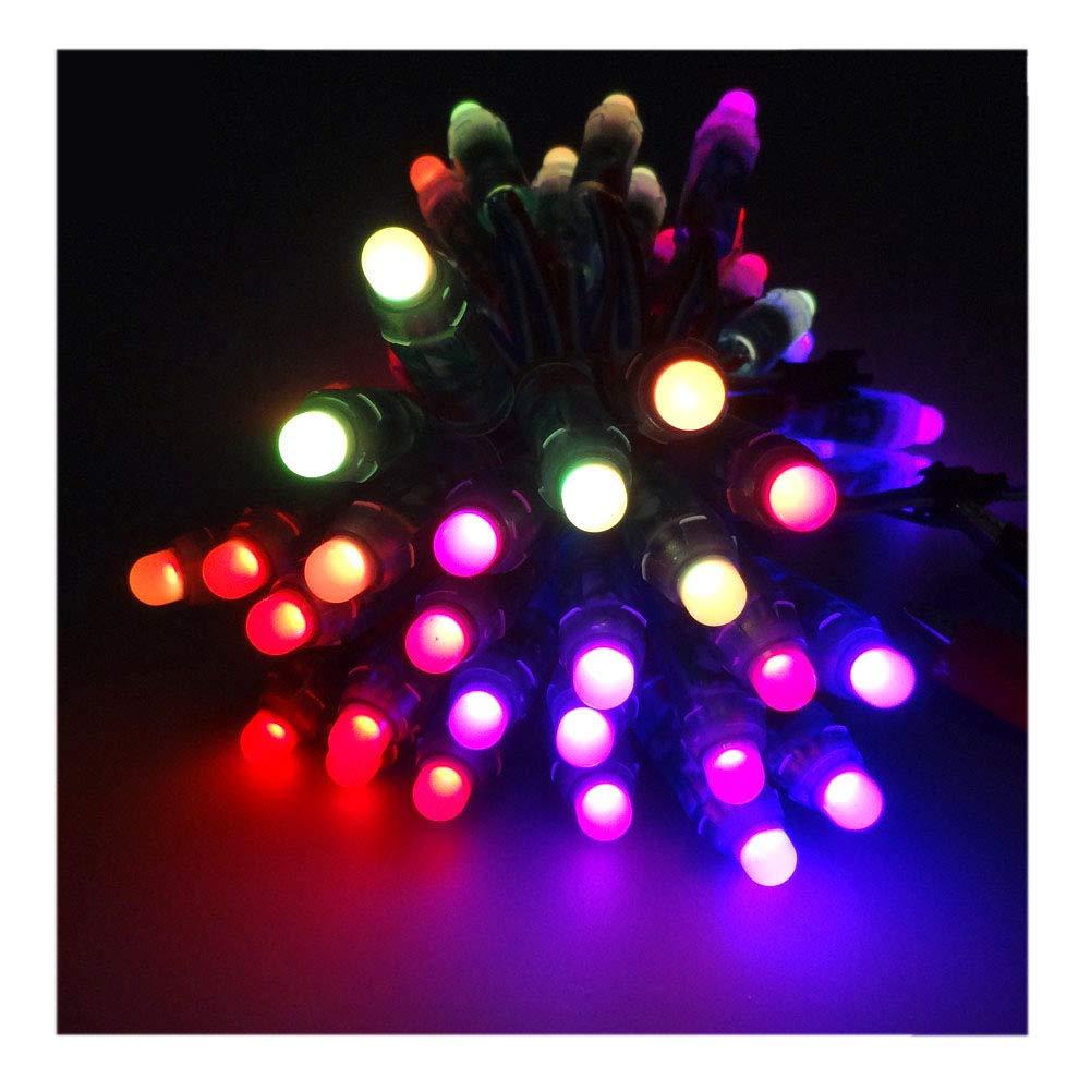 VISDOLL 300pcs WS2811 12mm Pixels RGB String Light Full Color Digital Individually Addressable LED Rope Light for Xmas (300Pcs WS2811 Waterproof 5v)