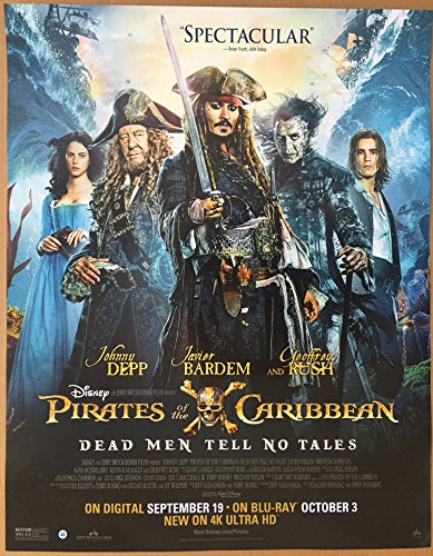 Pirates Of The Caribbean Dead Men Tell No Tales Movie Poster 1 Sided Mini 22X28