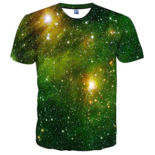 Hgvoetty Unisex 3D Pattern Printed Short Sleeve T-Shirts Cas