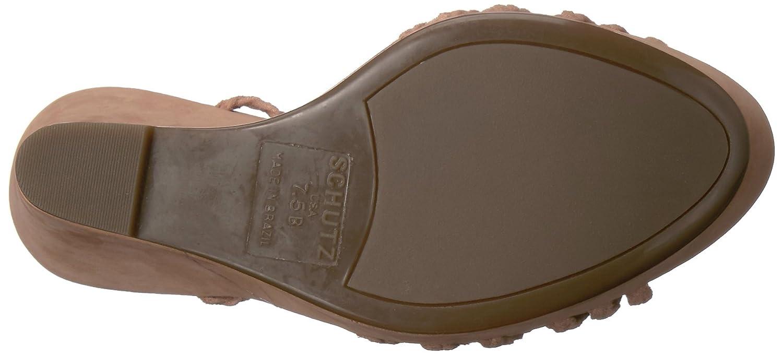 SCHUTZ Women's Macarena Wedge Sandal B01MAXUBDH 8 B(M) US|Toasted
