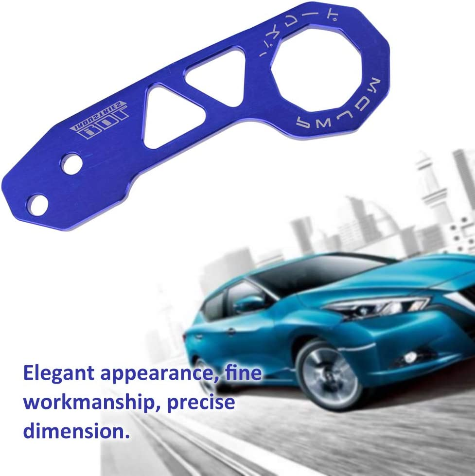 Kecheer Remolques Modificaci/ón del coche JDM Remolque Gancho Universal Remolque Parachoques trasero del coche para Honda Civic Remolque Gancho Accesorio autom/ático Aleaci/ón de aluminio