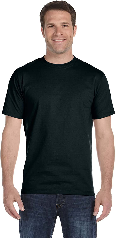 Hanes Men's Comfortsoft T-Shirt, 2 Black / 2 Deep Forest, L (Pack of 4)