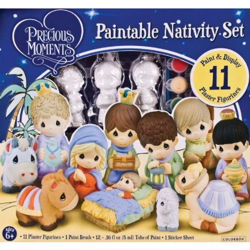 Amazoncom Precious Moments Paintable Nativity Christmas Set