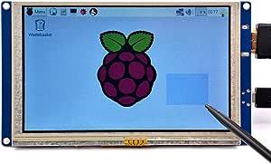 GeeekPi 5 inch HDMI Monitor LCD Resistive Touch Screen 800x480 LCD Display USB Interface for Raspberry Pi 3/2 Model B/B+ & Banana Pi (Plug and Play Free Driver)
