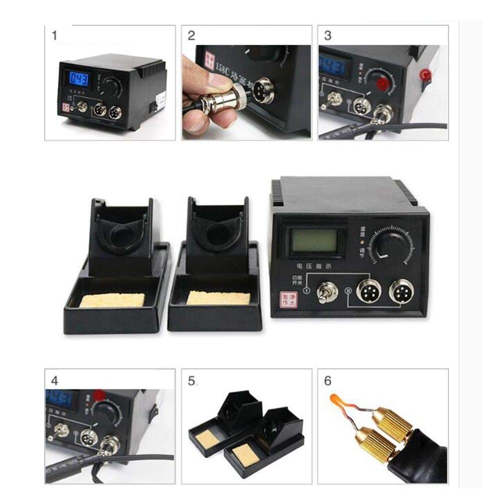 110V 60W Pyrography Machine Set Portable Multi-Function Wood Pyrography Crafts Kit Wood Burning Tool Set (Model-A) by MIFXIN (Image #4)