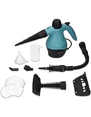 Navaris limpiador a vapor eléctrico de 360ML - Limpiador compacto con múltiples accesorios - Para limpieza de alfombra suelo asientos del coche