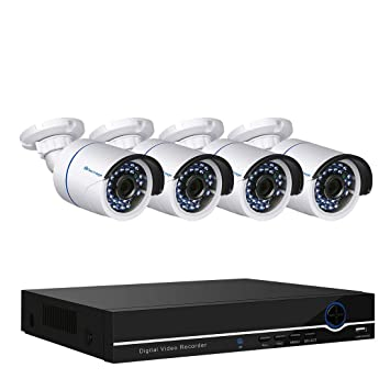 techage Full HD 1080p PoE sistema de cámara de seguridad CCTV 4 ch NVR 2400tvl 2.0