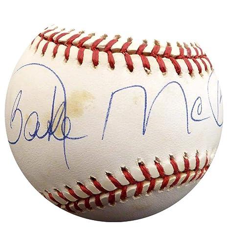 Autographed Bake McBride Baseball Inscribed 1974 NL ROY Autographed Autographed Baseballs