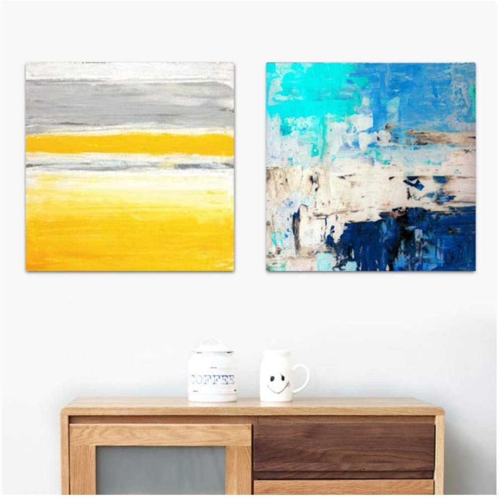 KBIASD Abstract Canvas Painting Color Striped Picture Nordic Modern Home Decor Wall Art Poster Sofa Office Hotel Corridor Supply-5050cm unframed-2pieces