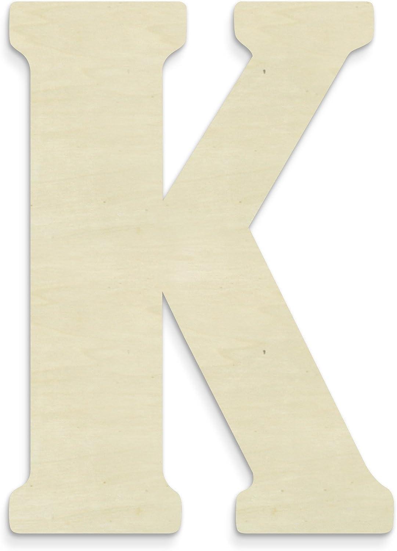 UNFINISHEDWOODCO Unfinished Wood Letter, 15-Inch, Monogrammed K, Large