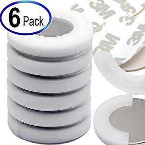 """6 Sets Super Powerful Neodymium Magnets Dia 1.26x1/8"""" w/ 3M Adhesives 