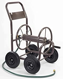 Liberty Garden Products 840-1 Four Wheel Hose Cart, Bronze