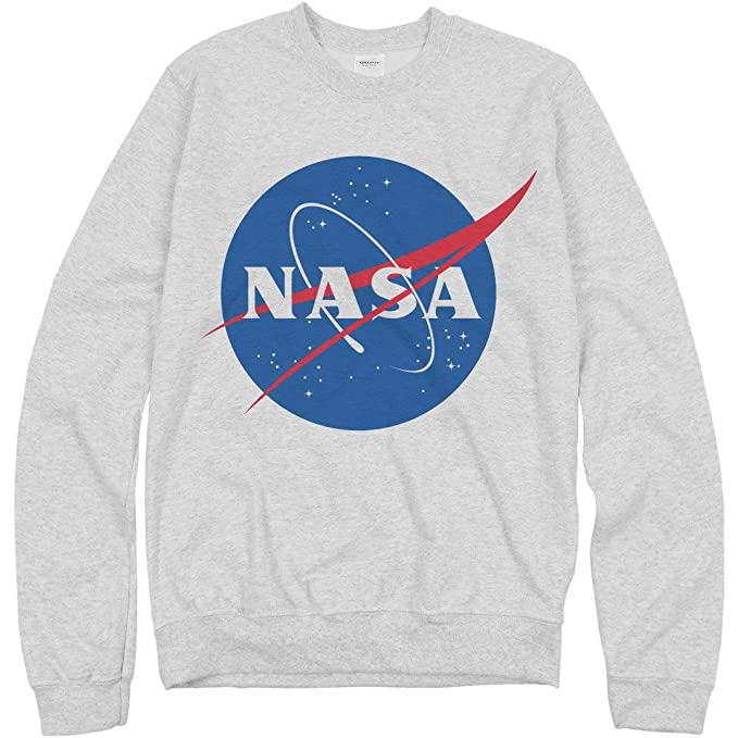 db41973fde673 NASA Logo Grey Sweater: Unisex Gildan Crewneck Sweatshirt