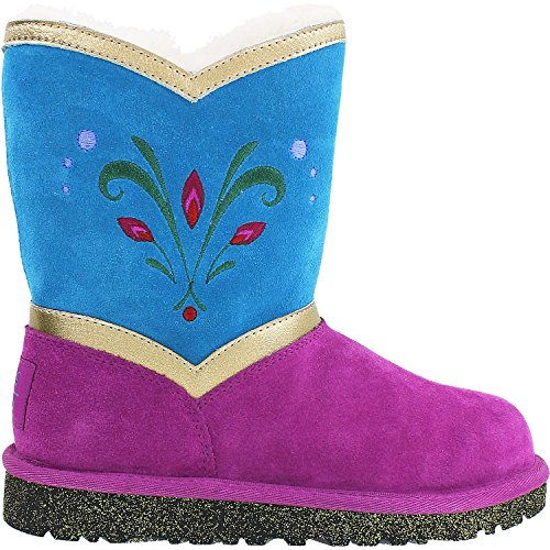 UGG Kids' Disney Frozen Elsa Coronation (Big Kids) - Limited Edition Royal Purple Suede/Sheepskin 2