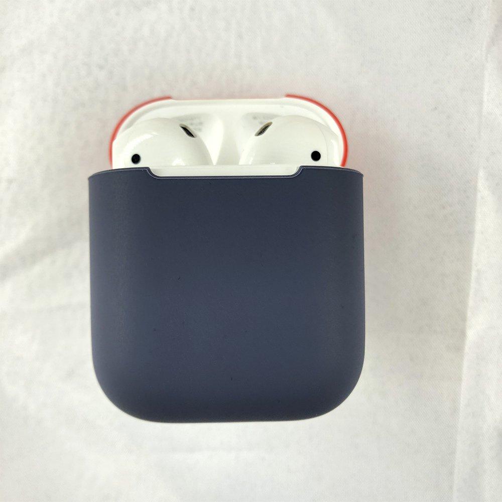 Damonlight de Protection Podskin Airpods Casque Coque r/ésistante aux Chocs Souple Skin pour Airpods Casque /étui de Chargement Bleu Nuit