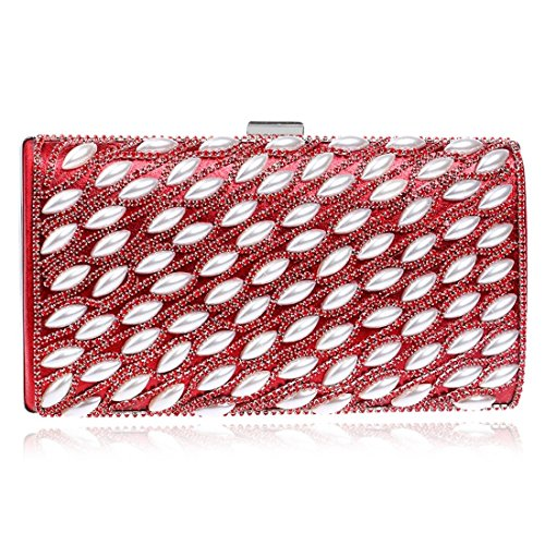 YOUTO Evening Party Clutch Bags Female Pearl Dinner Package Star Wild Party Evening Bag Beautiful Nightclub Clutch (Color : Red)