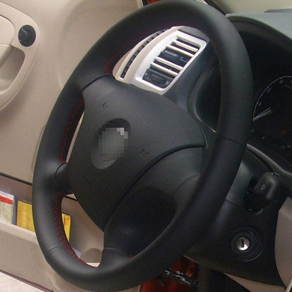 Funda de volante a medida para Skoda Octavia 1999-2005 en cuero liso perforado