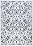 Eliza Transitional Floral Ivory Non-Skid Rectangle Area Rug, 4′ x 5′