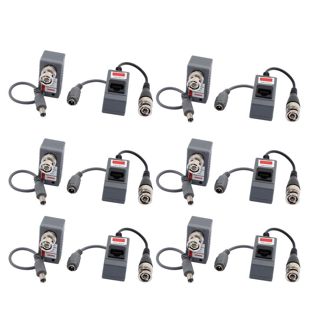 sourcingmap 6 par Balun BNC Conector adaptador de Cable Coaxial de ...