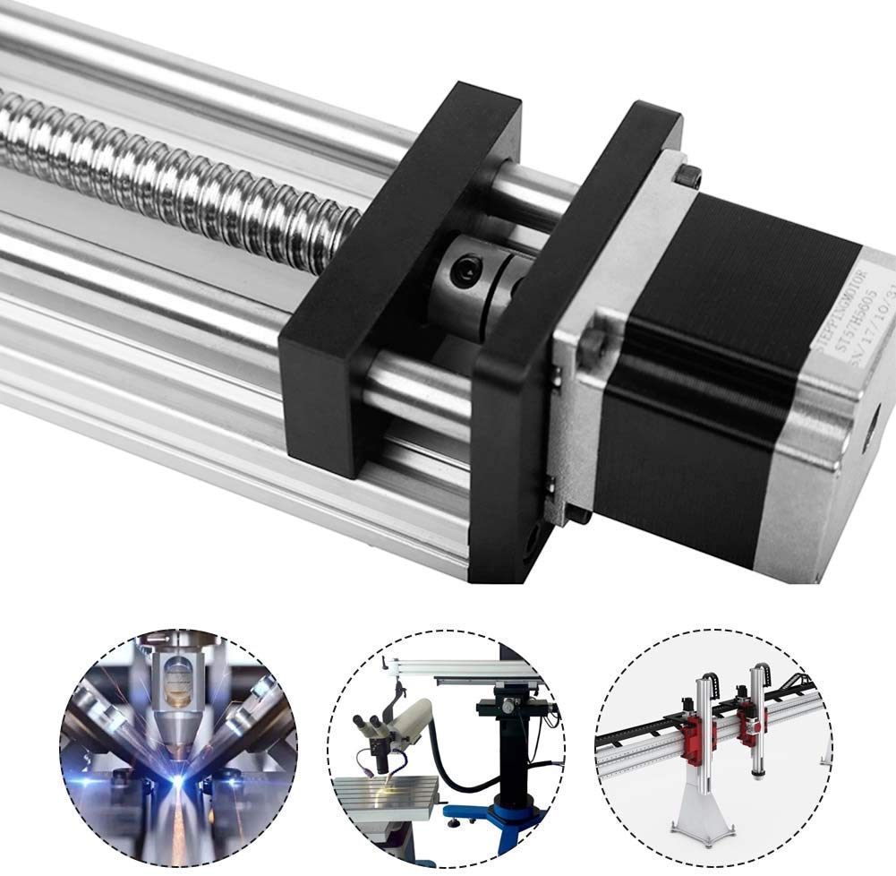 Travel Length Linear Stage Actuator 600mm Ball Screw Sliding Table Effective Stroke Linear Guides Cross Slide Table CNC Machine for XYZ Axis Linear Motion