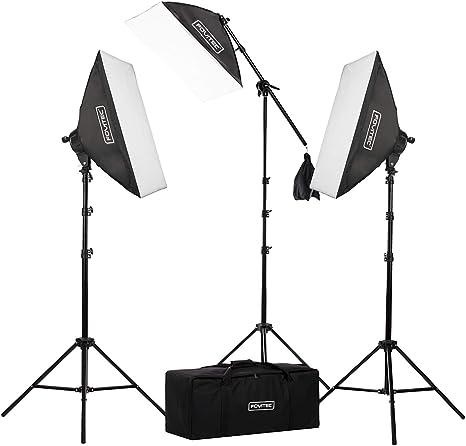 Kit de iluminación de estudio fotográfico y de vídeo con caja de luz 20 x 28