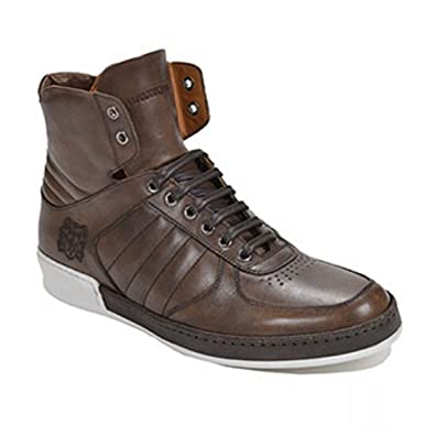 4ee595362ef Amazon.com  Bruno Magli SIRO HIGH TOP Dark Brown Shoes Sneaker (9.5 ...