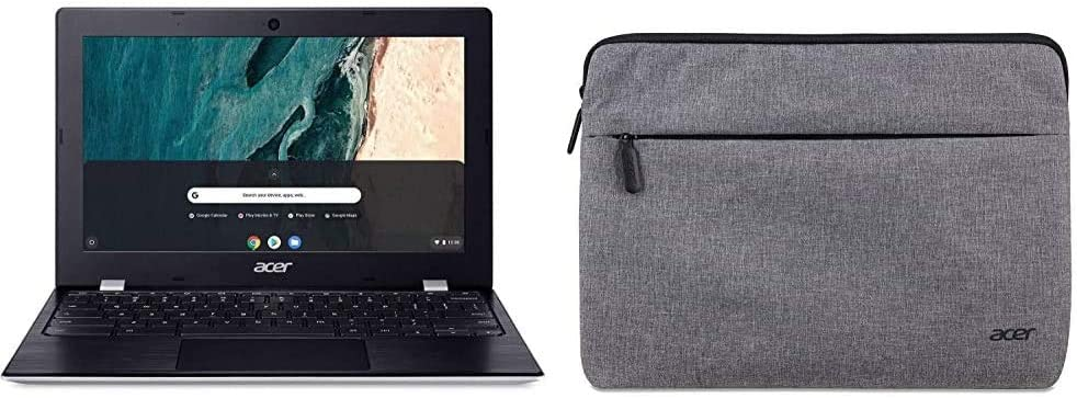 """Acer Chromebook 311, Intel Celeron N4000, 11.6"""" HD Touch Display with 11"""" Protective Sleeve"""