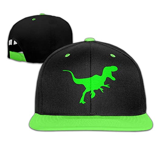 2a27f62cdc3 Amazon.com  Green Dinosaur Hip-Hop Cap With Kids Baseball Hat Boy ...