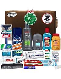 Men's Premium 20 Count Necessities Travel Kit, Featuring: Dove Men & Care Products