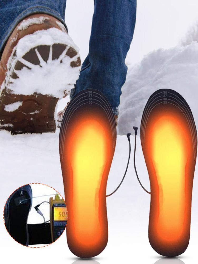 Falliback Solette Termiche USB Riscaldata Scaldapiedi Sottopiede Tappetino per Calzini Riscaldamento Istantaneo Unisex Pad Lavabile per linverno Caldo Sport Allaperto Scaldapiedi per Escursionismo