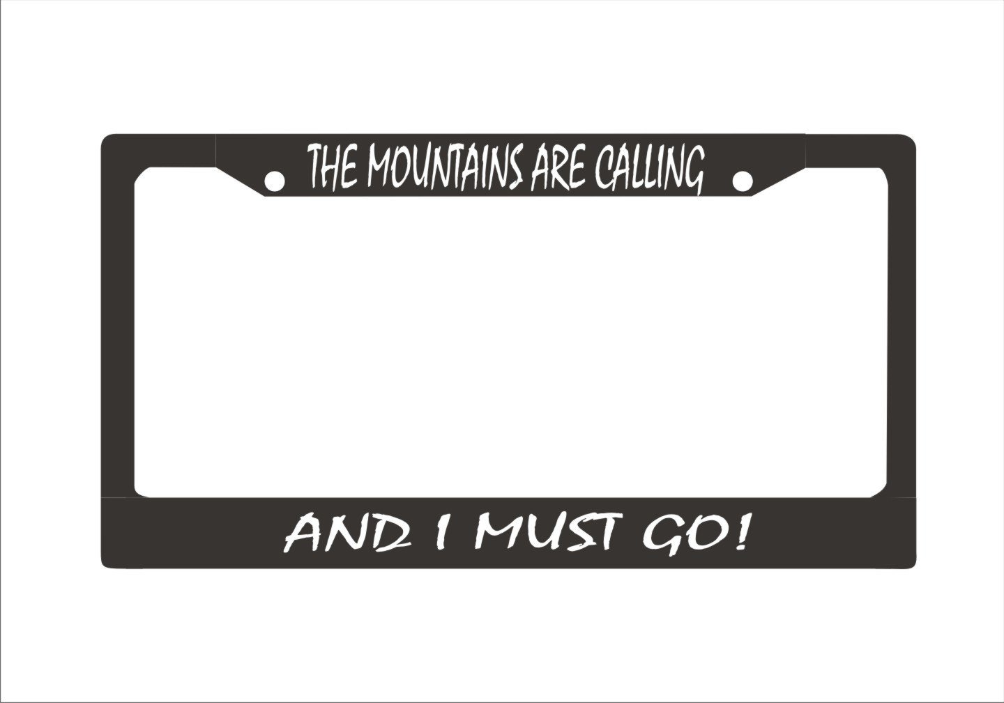 Personalized The Mountains Are Calling And I Must Go License Plate Frame, The Mountains Are Calling License Plate Frame, Funny Mountiner Car Plate Frame.