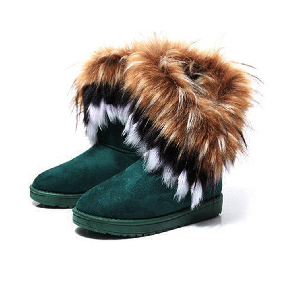 bf6aeb2aae5fc1 BAINASIQI Damen Winter Schnee Stiefel Warm Gefüttert Stiefeletten Boots  Kurz Schlupfstiefel Warm Pelz Winter Schuhe  Amazon.de  Schuhe   Handtaschen