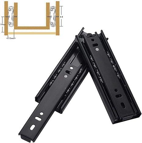 400 mm 1 par Gu/ía de rodamiento met/álica para cajones de extensi/ón completa
