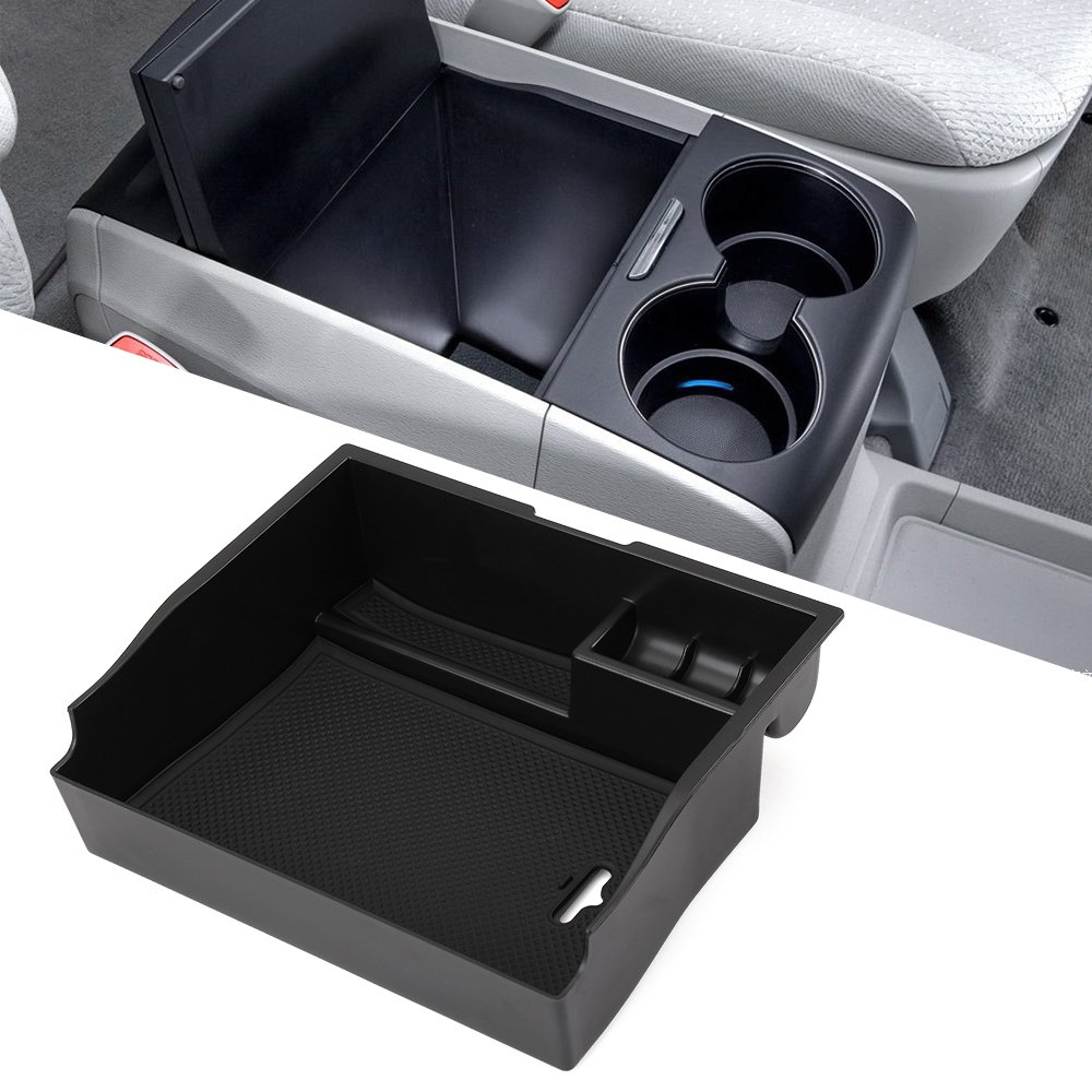 etopmia Car Center Console Armrest Box Glove Box Secondary Storage for Toyota Sienna 2011-2017