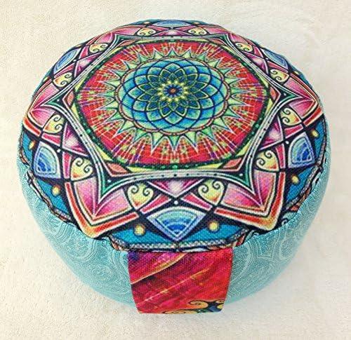 Yoga Coj/ín de meditaci/ón con BASSETTI extra/íble Tantra Meditaci/ón Loto Mandala Yoga