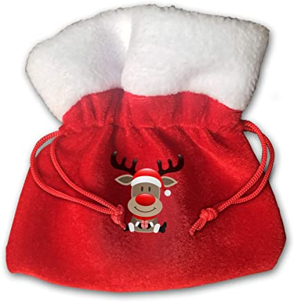 Eco-Friendly Rudolph the Red Nosed Reindeer Reusable Gift Bags set of 6 Ready to ship