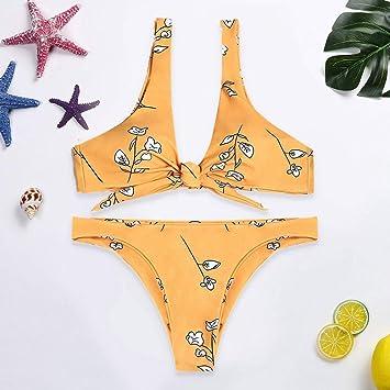 Byongyi Traje de baño para mujer Conjunto de bikini de talle alto ...
