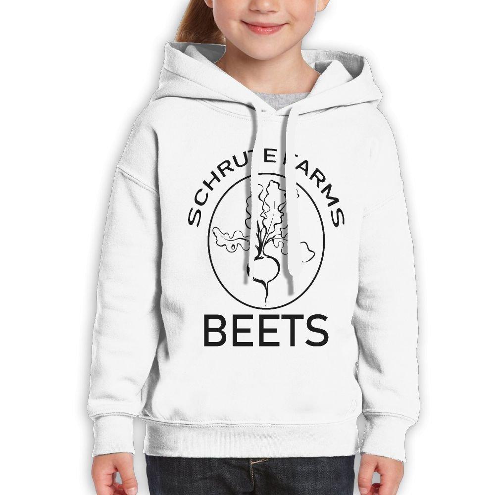 YUTaf Schrute Farms Beets Teens Cotton Long Sleeve Cute Sweatshirts Hoodies Unisex