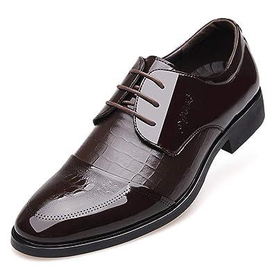 thésaurisation comme une denrée rare répliques Acheter Authentic XIGUAFR Chaussure en Cuir Pointue d'uniforme de Costume ...